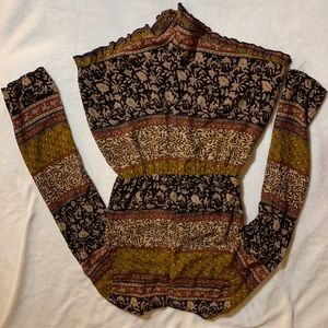 Reverse Other - Beautiful Romper with Tapestry Design